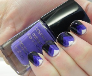 GO RAVENS! COVERGIRL Outlast Nail Glosses in Black Diamond, Eternal Oceans, Vio-Last, and Snow Storm.