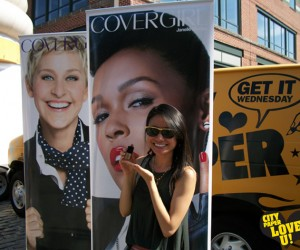 We hit up the Fells Point Fun Festival to hand out free COVERGIRL cosmetics!
