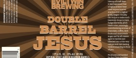 Eviltwin Double Barrel Jesus (bottle): An imperial stout aged in two different kinds of whiskey barrels then blended together.